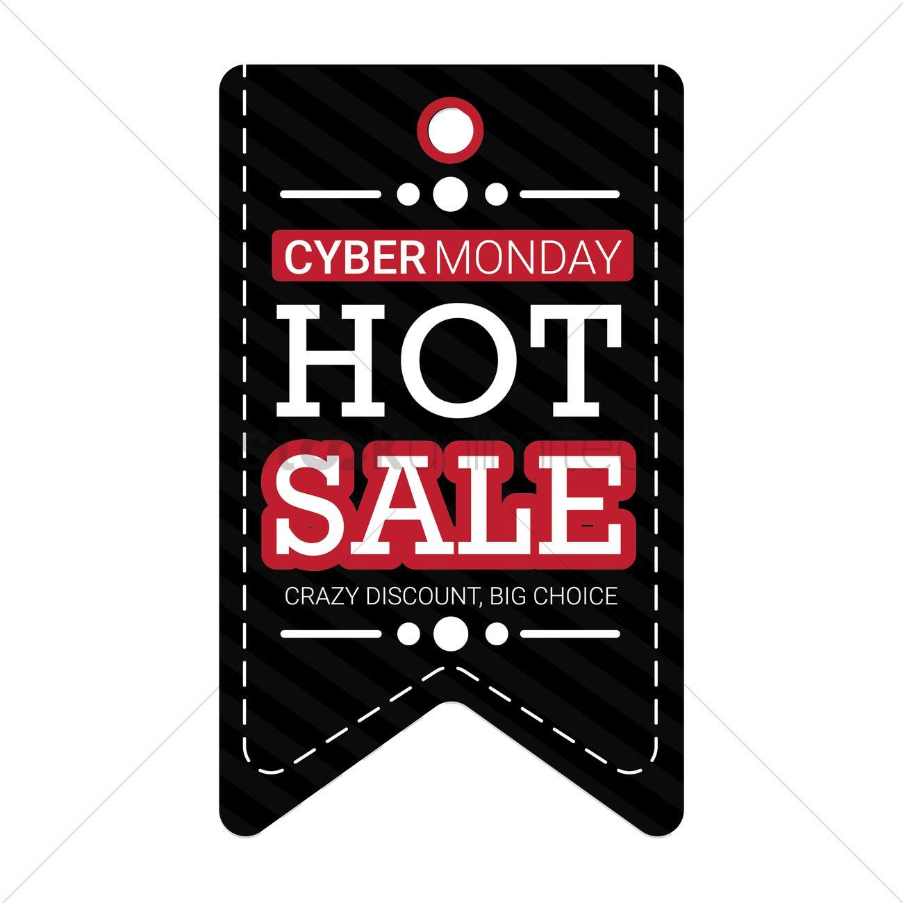 14ea42e64c7 Cyber monday sale tag Vector Image - 1707270 | StockUnlimited