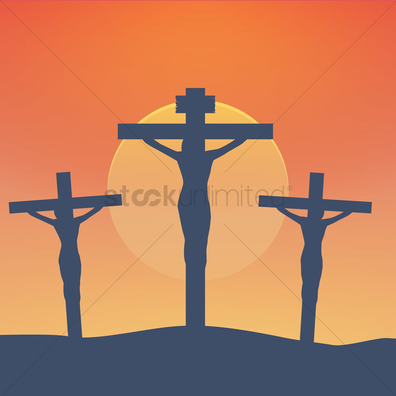 Death Of Christ On The Cross Vector Image 1989418 Stockunlimited