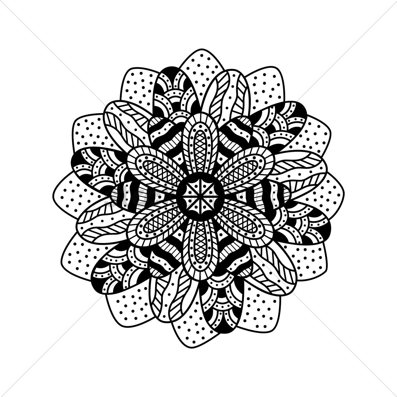 decorative floral design vector image 1544066 stockunlimited