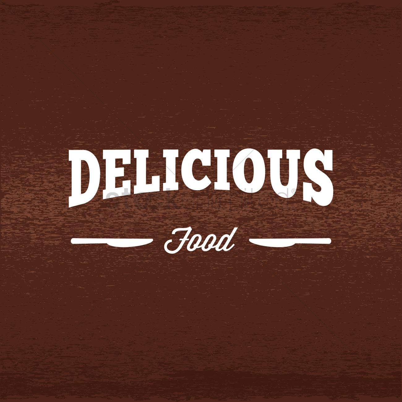 Delicious food label ベクター...