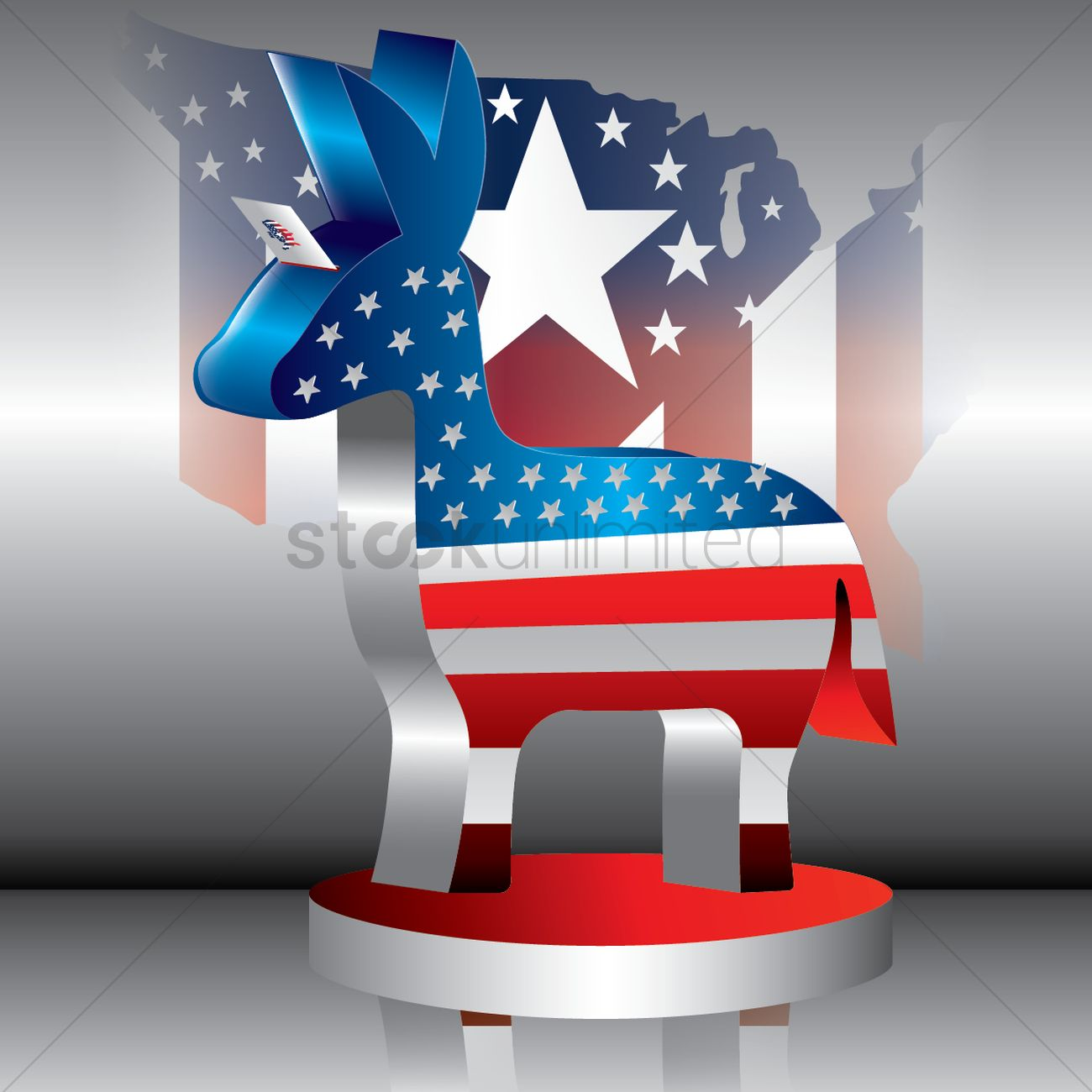 Democratic party symbol vector image 1534862 stockunlimited democratic party symbol vector graphic biocorpaavc Image collections