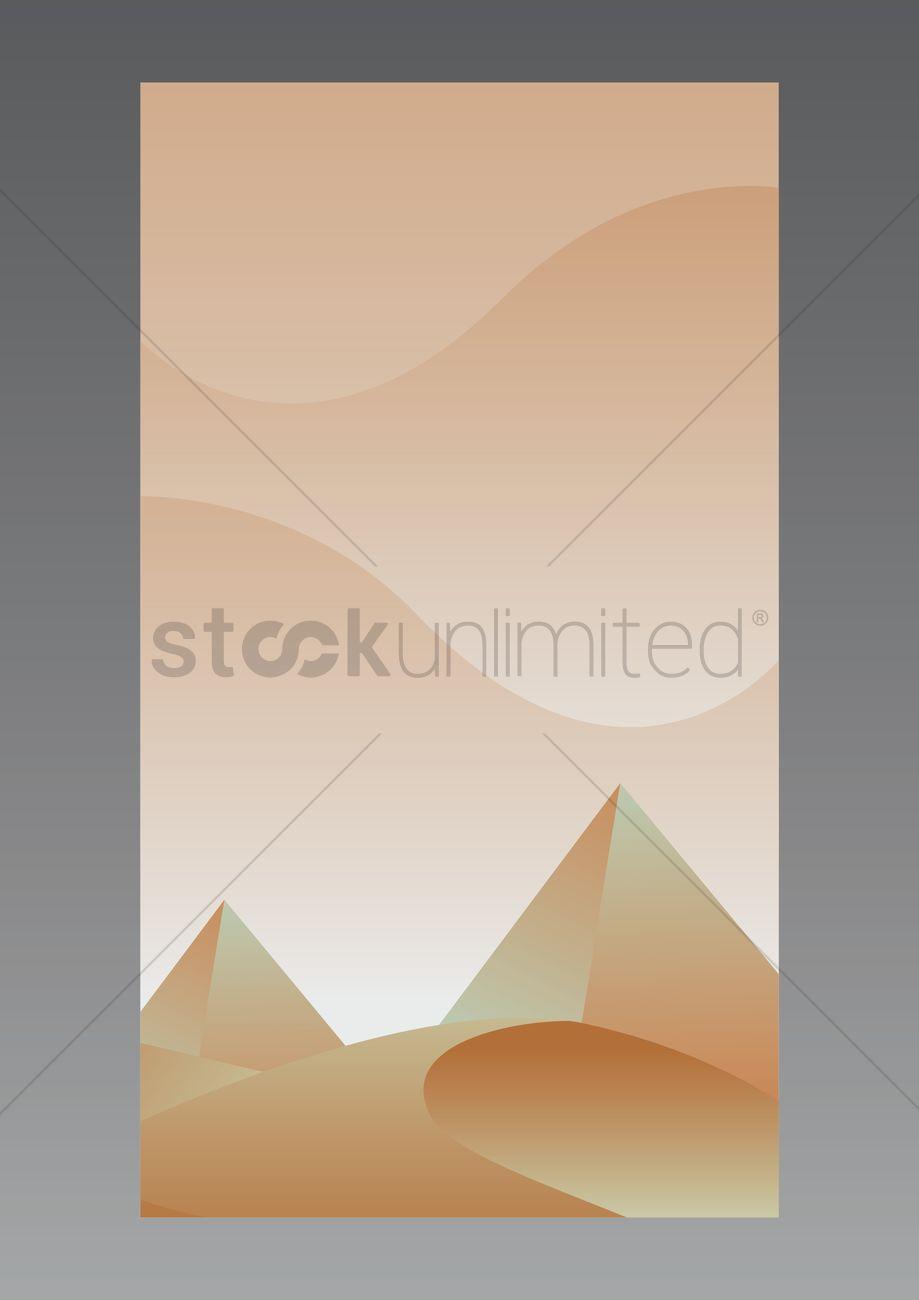 Desert Wallpaper For Mobile Phone Vector Image 1635742