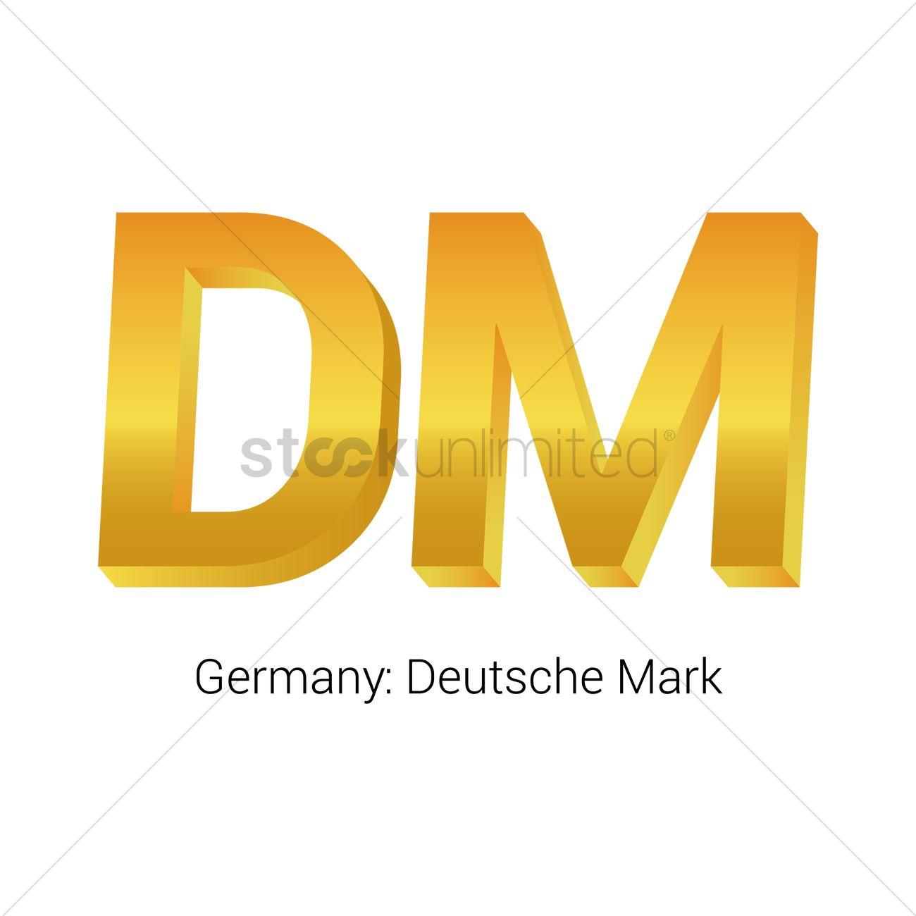 Deutsche Mark Currency Symbol Vector Image 1821546 Stockunlimited