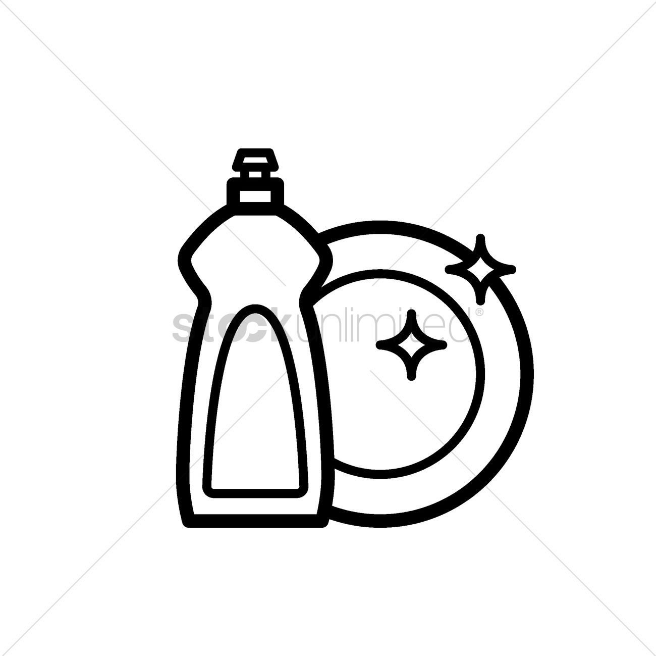 dishwasher clipart black and white. dishwasher detergent with plate vector graphic clipart black and white