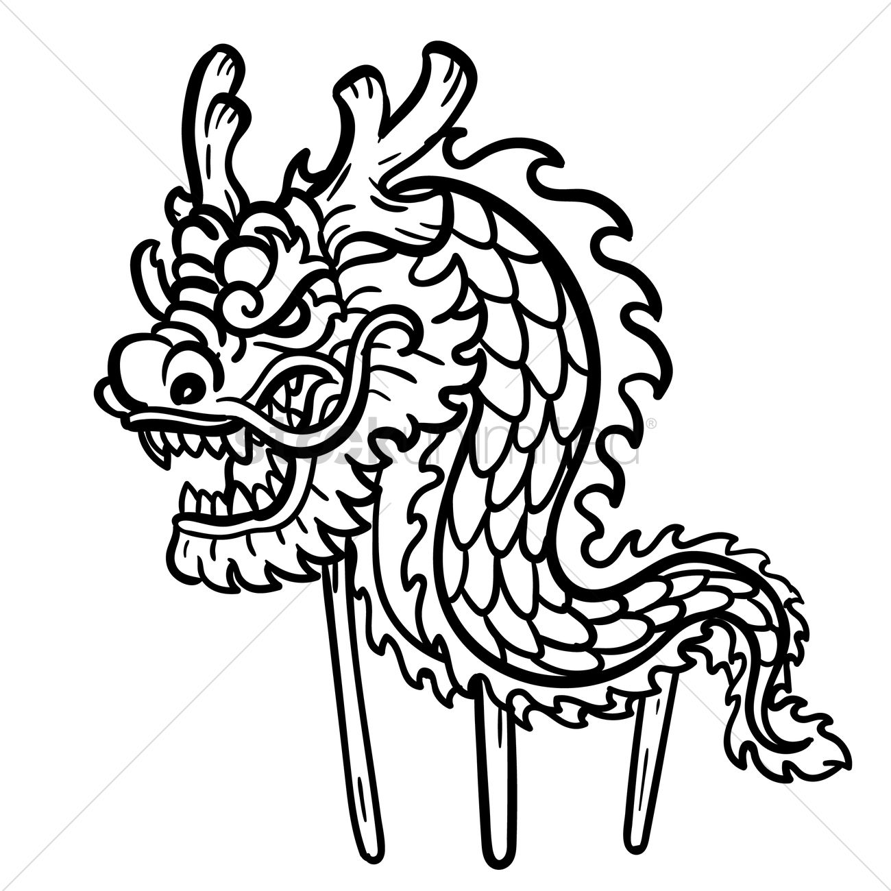 90 Dragon Dance Coloring Sheet