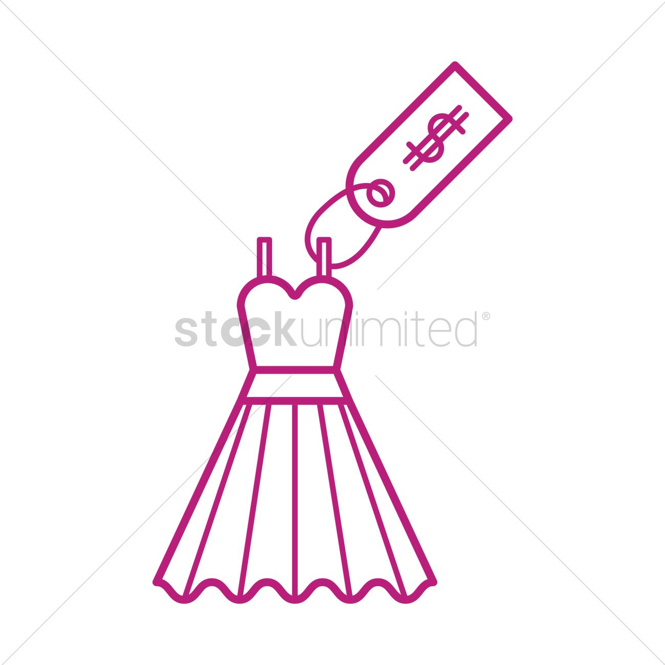 Dress with price tag Vector Image - 1591406 | StockUnlimited