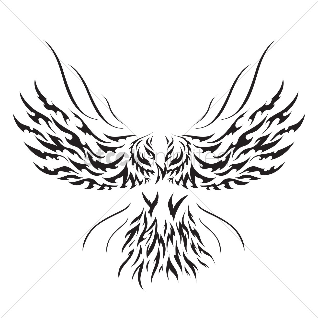 Eagle tattoo design Vector Image - 1434414 | StockUnlimited