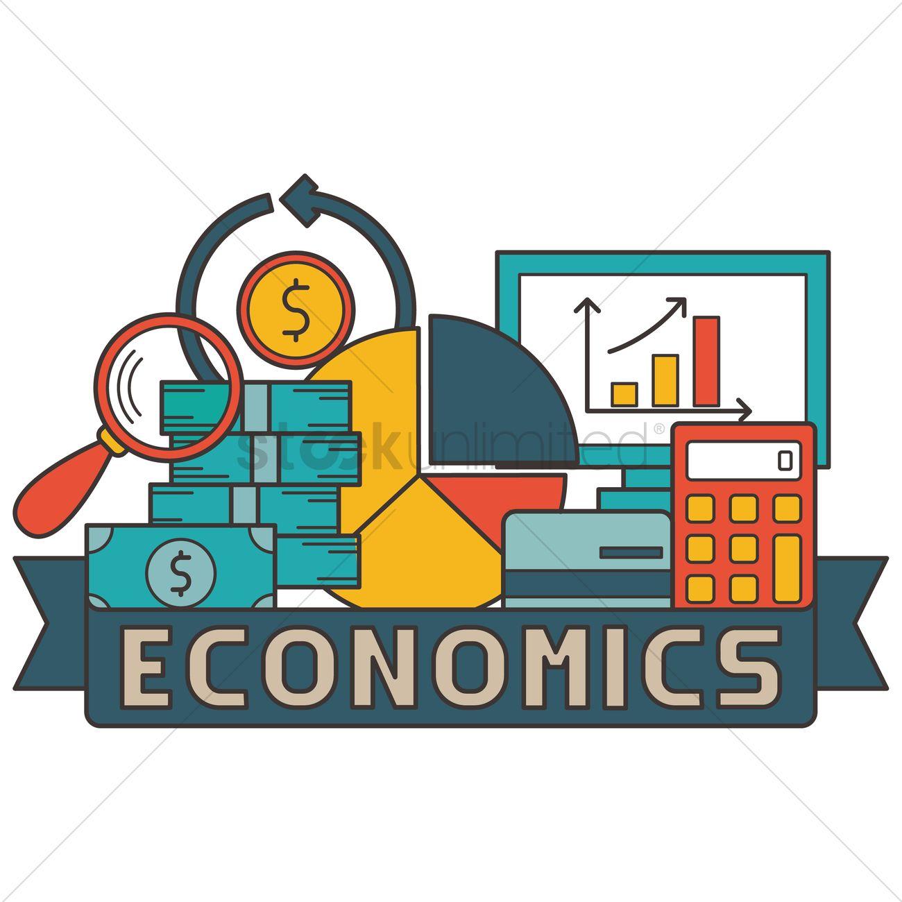 Economics concept design vector image 2010226 for Design economico