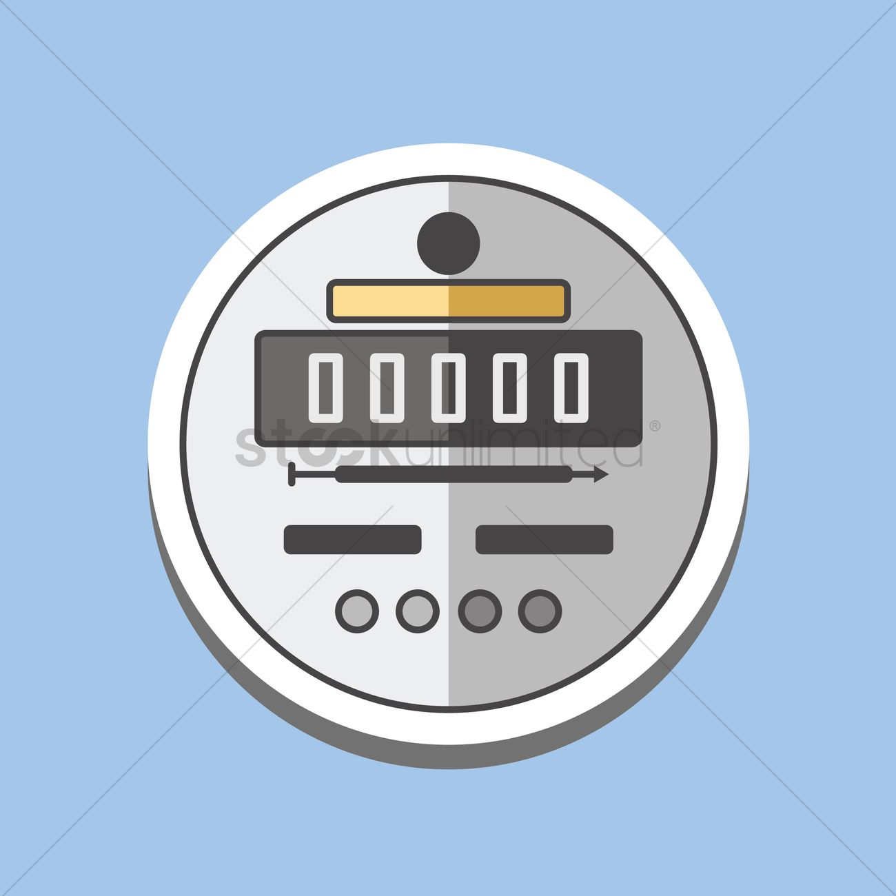 Electric meter Vector Image - 1391878 | StockUnlimited