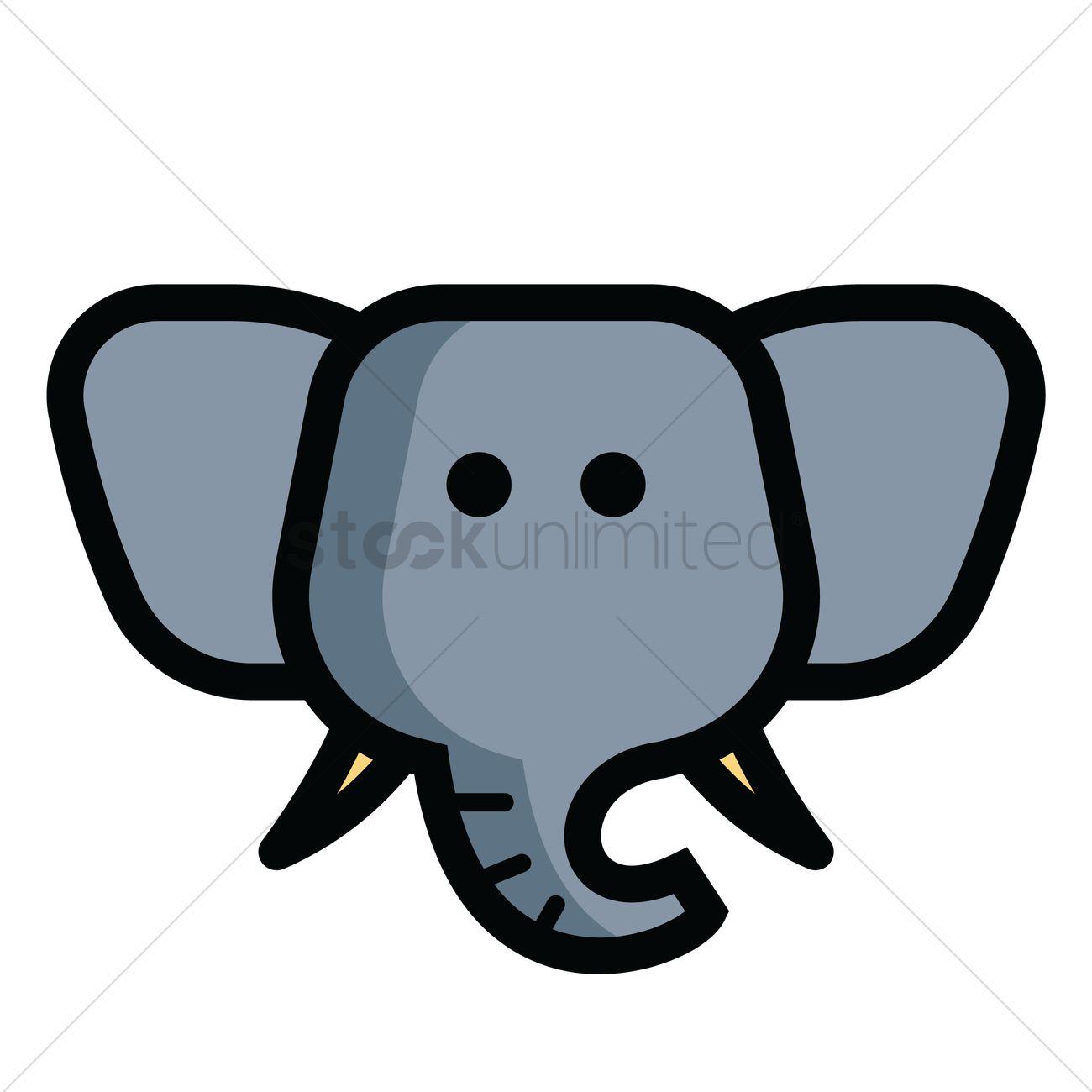 elephant head vector image 1821314 stockunlimited rh stockunlimited com cartoon elephant head images cartoon elephant head outline