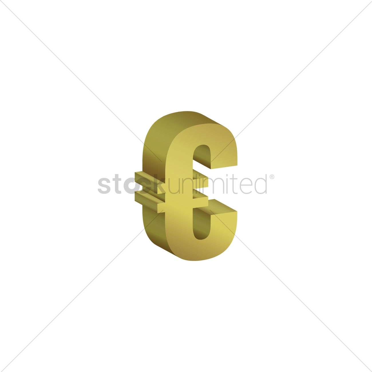 Euro Currency Symbol Vector Image 1611442 Stockunlimited