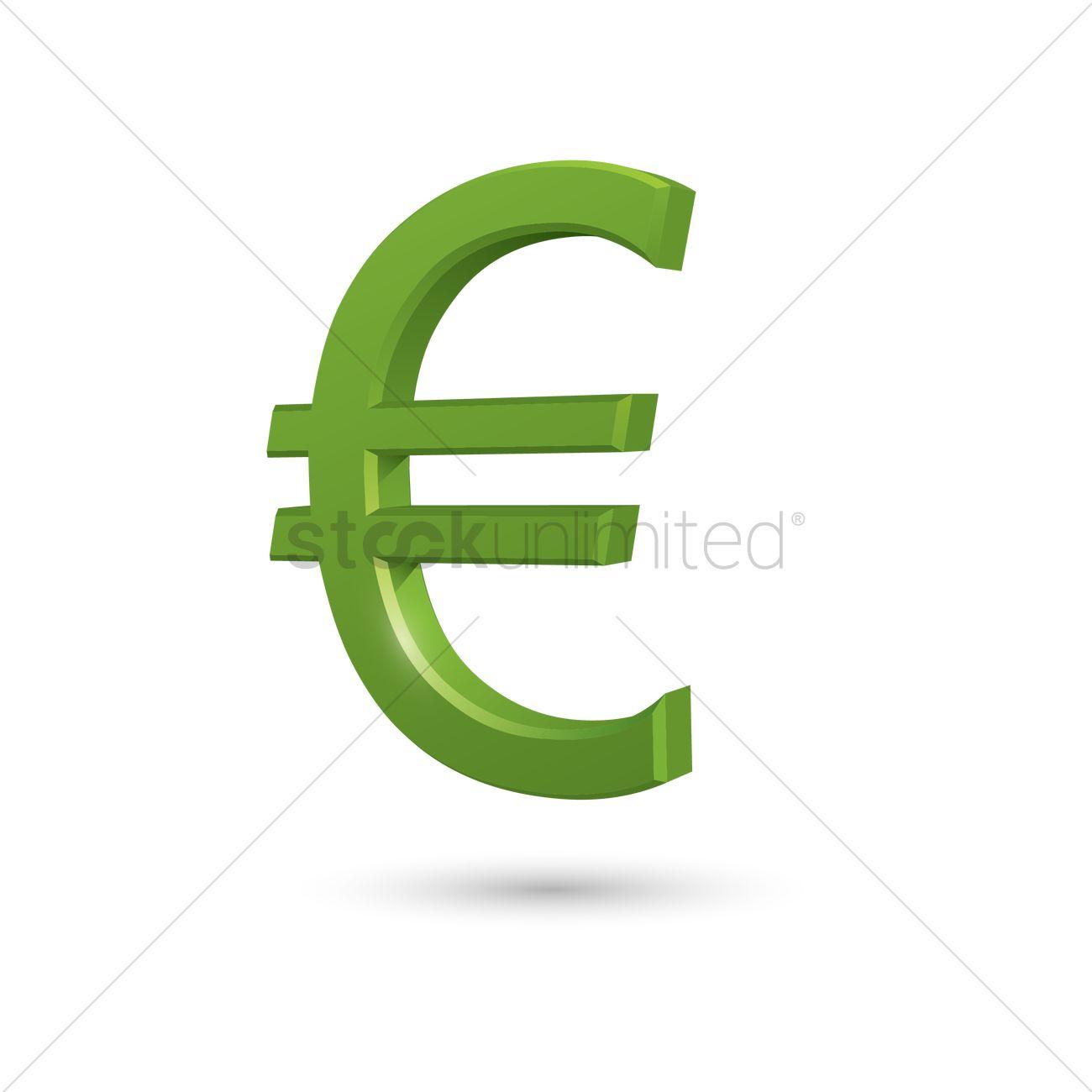 Euro Symbol Vector Image 1572062 Stockunlimited
