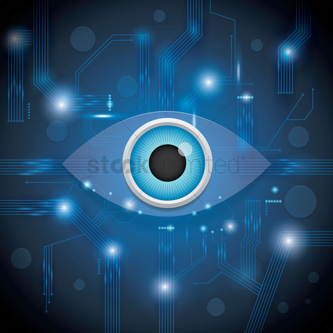 Eye design on circuit wallpaper. Vector Image - 1807646 | StockUnlimited