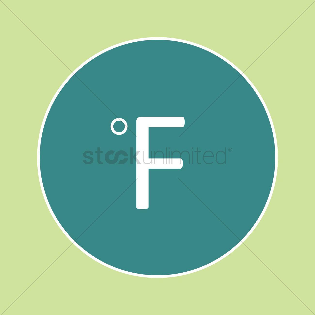 Fahrenheit symbol icon vector image 1335062 stockunlimited fahrenheit symbol icon vector graphic biocorpaavc Choice Image