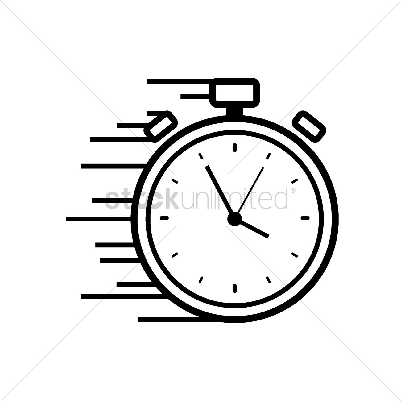 stopwatch clipart black and white. fast stopwatch icon vector graphic clipart black and white