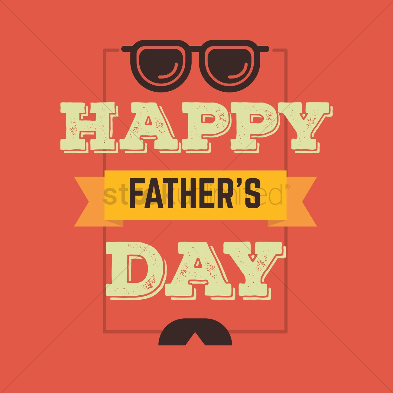 Fathers day greeting card vector image 1540254 stockunlimited fathers day greeting card vector graphic m4hsunfo