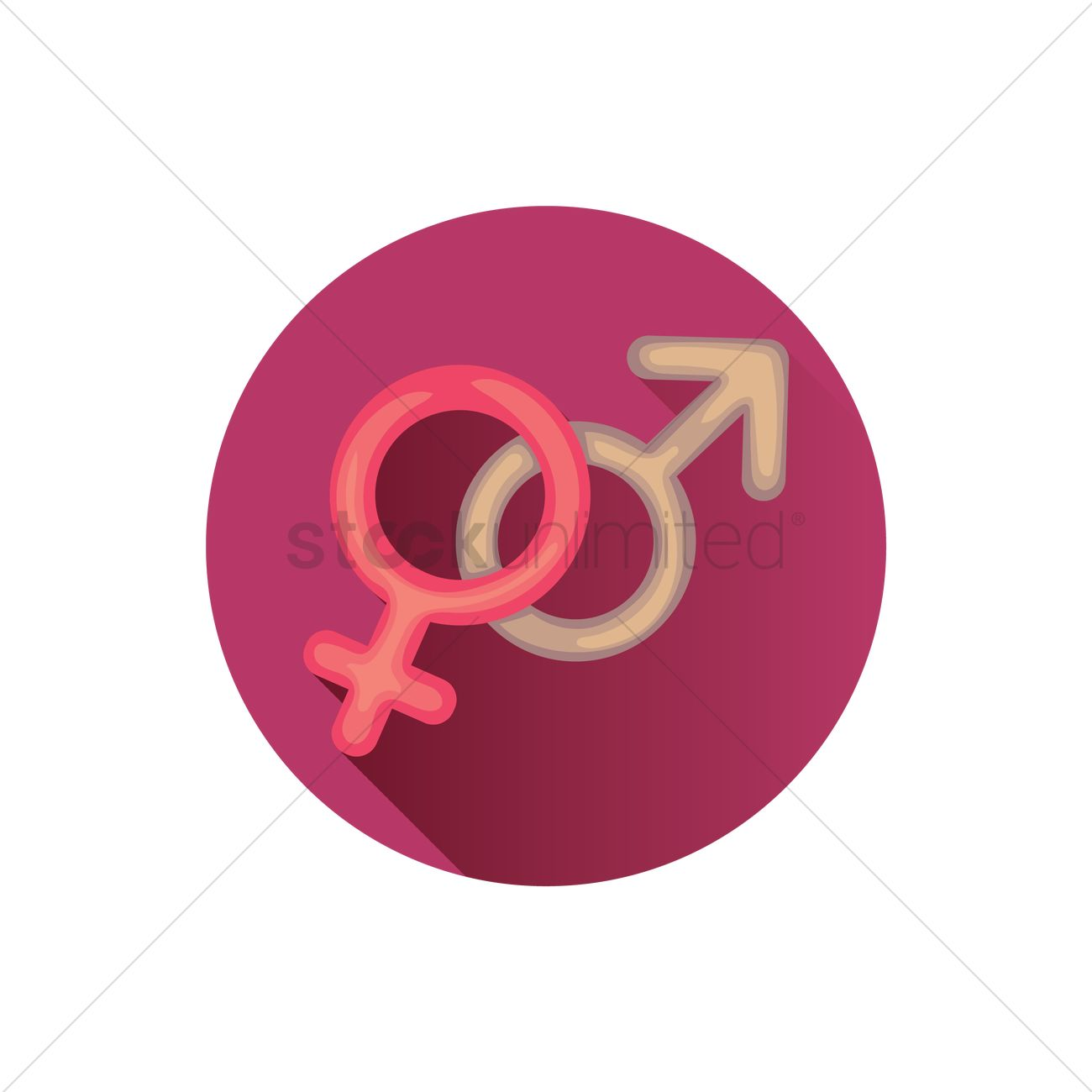 Female And Male Symbols Vector Image 1240674 Stockunlimited