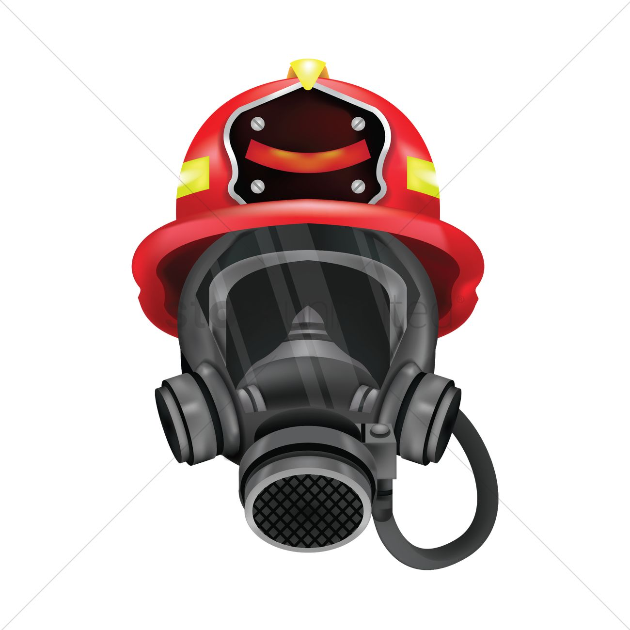 firefighter mask vector image 1683886 stockunlimited