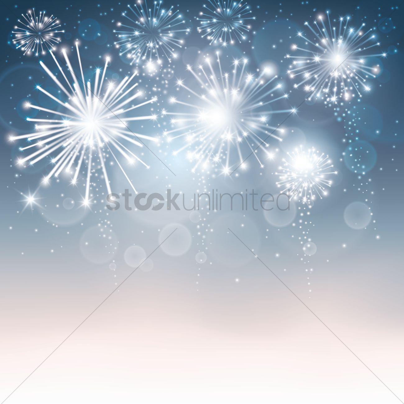 fireworks background design ベクタークリップアート 1934198