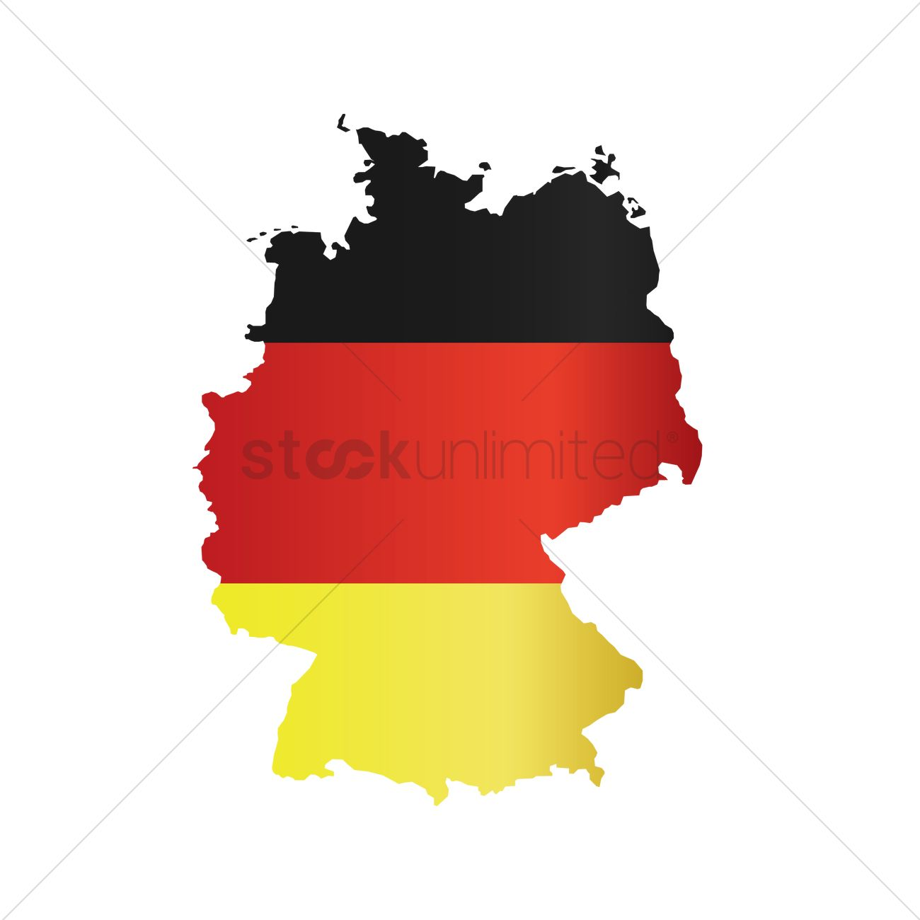 Flag Of Germany Map Vector Image StockUnlimited - Germany map vector