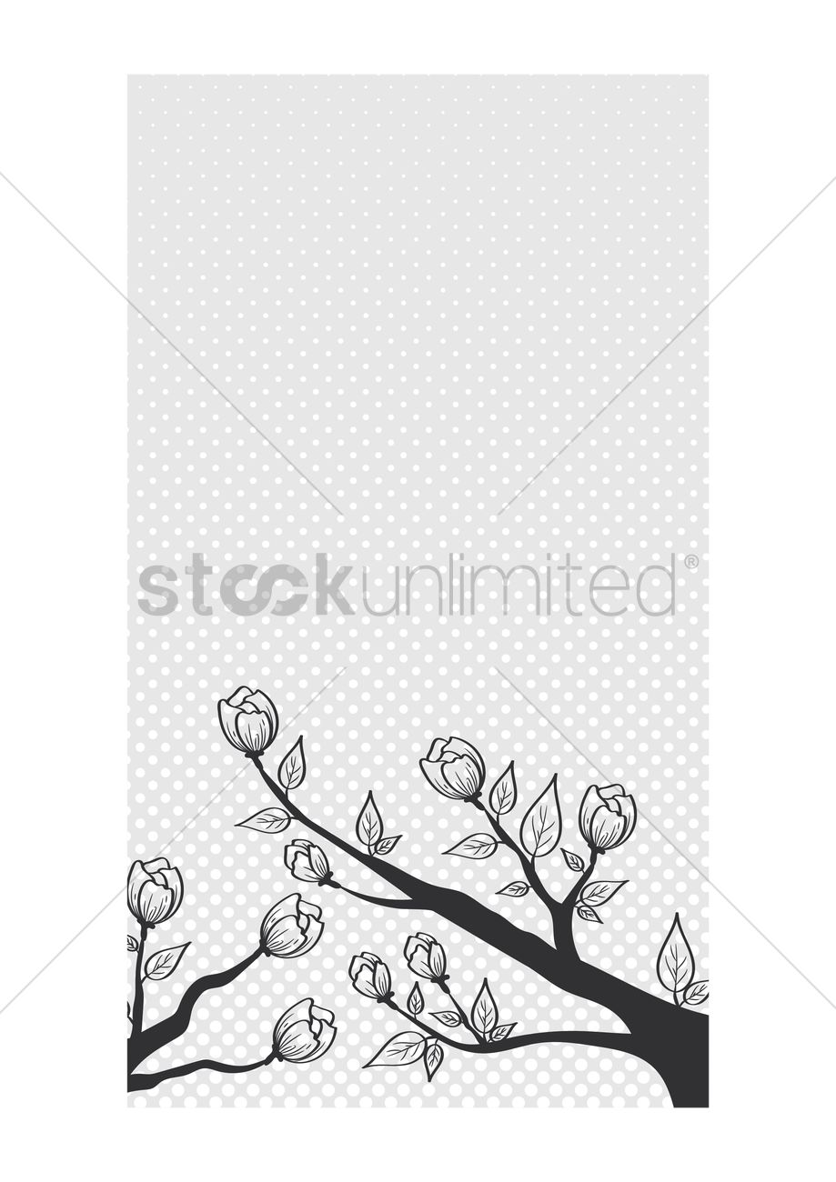 Floral Wallpaper For Mobile Phone Vector Image 1635106