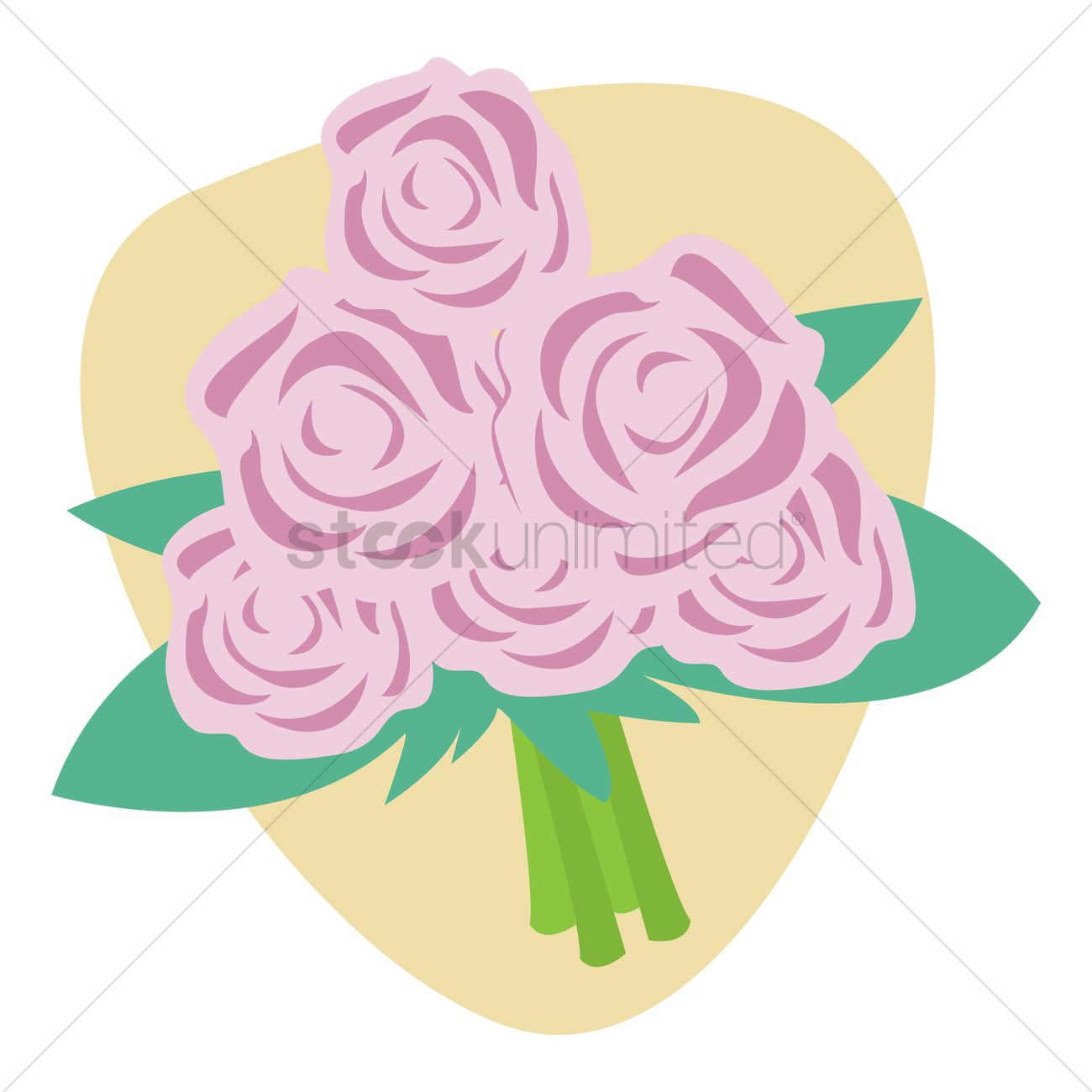 Flower Bouquet Vector Image 1328734 Stockunlimited