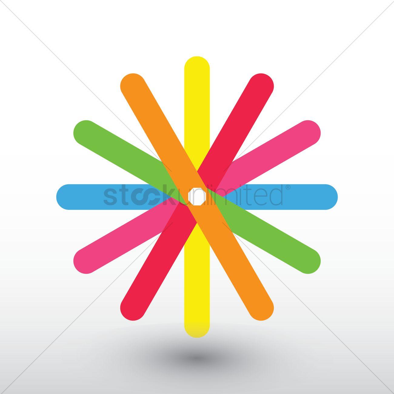 Flower Logo Element Vector Image 1627630 Stockunlimited