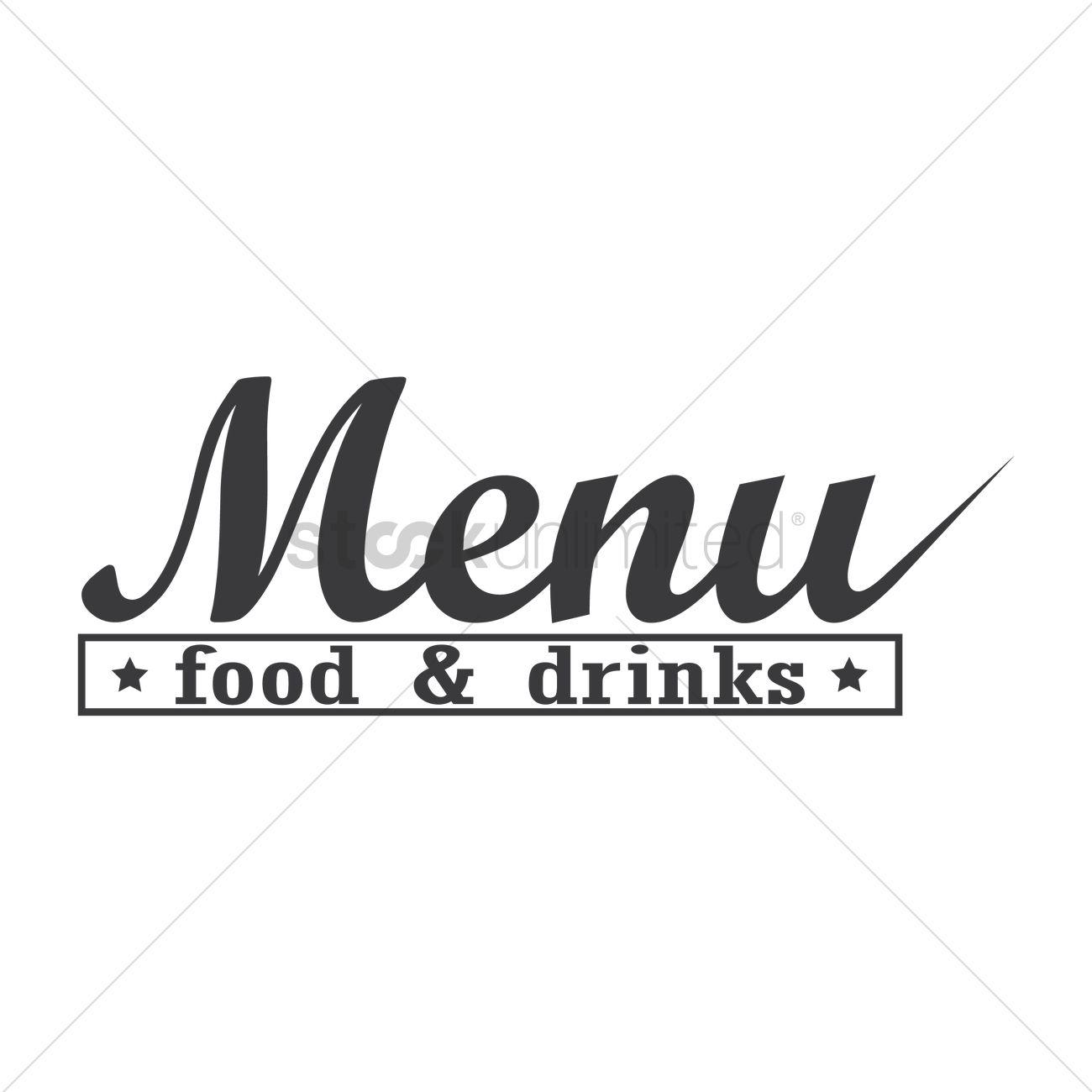 Food and drinks menu logo icon Vector Image - 1710138 ...