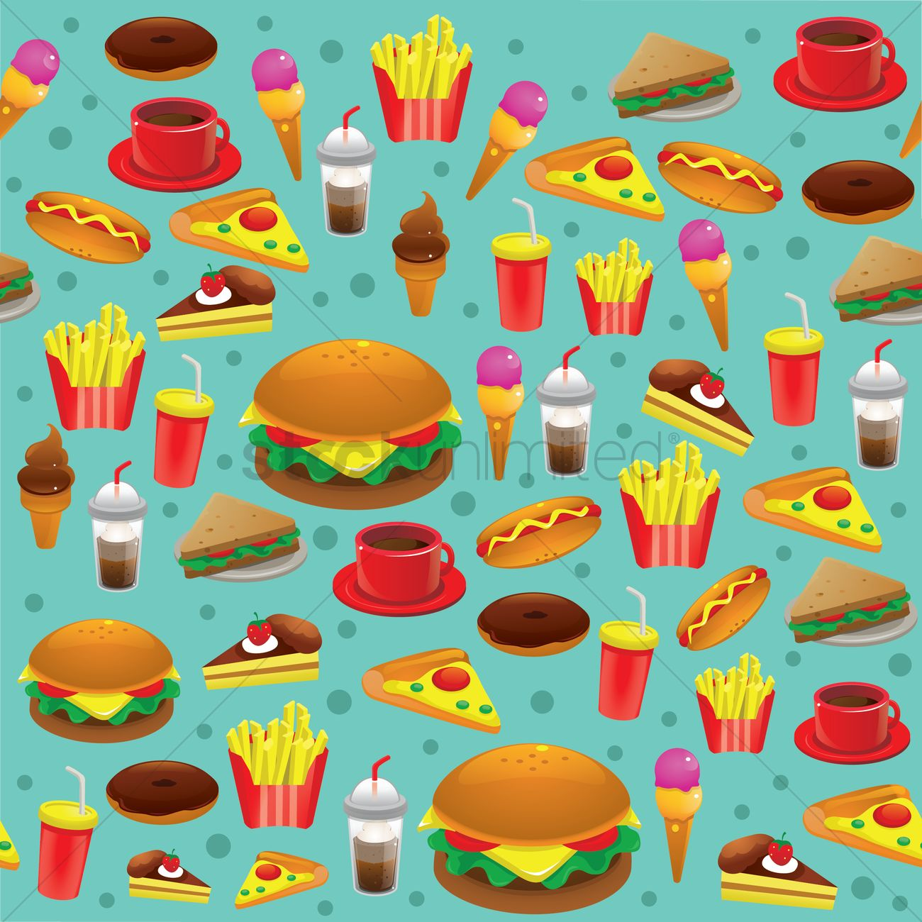 Food Background Food Background Vector Image  1305818  Stockunlimited