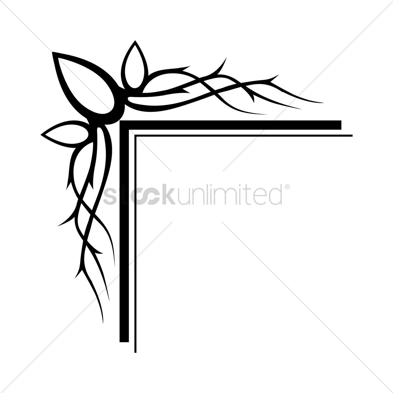 Frame corner design Vector Image - 1627218 | StockUnlimited