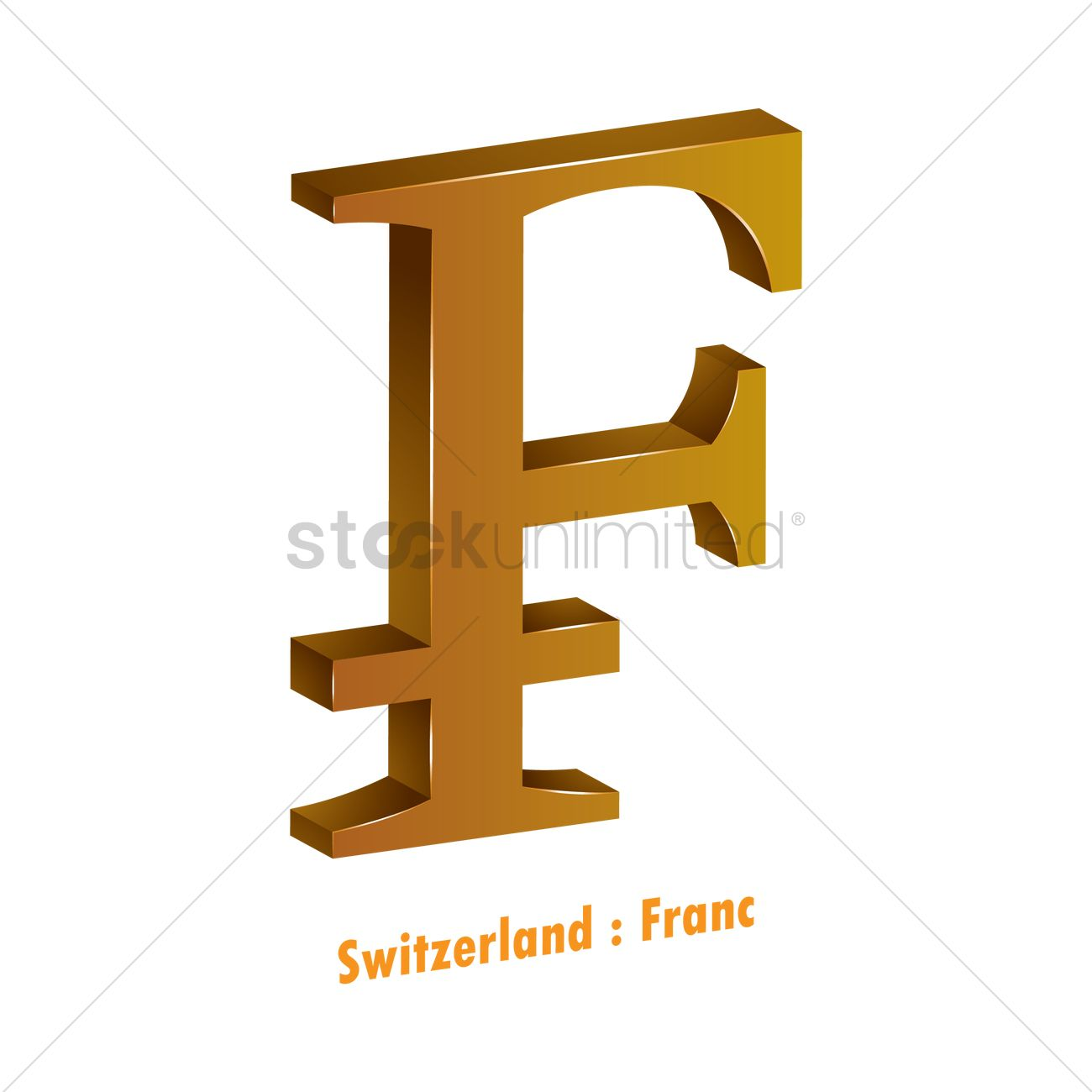 Franc Currency Symbol Vector Image 1821574 Stockunlimited