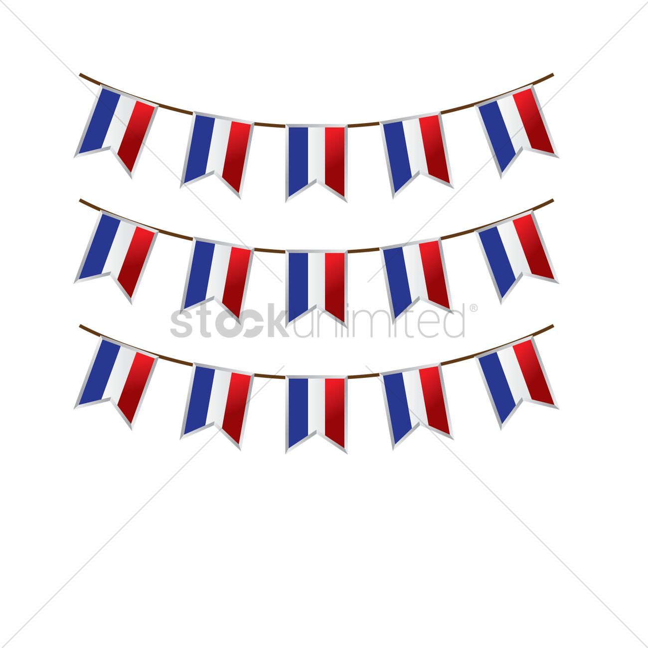 france flag buntings vector image 1567830 stockunlimited