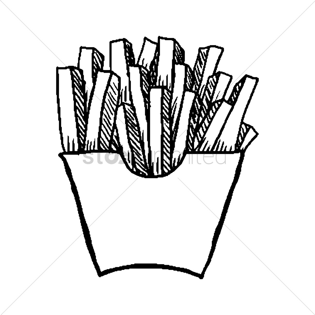 French fries Vector Image - 1869462 | StockUnlimited