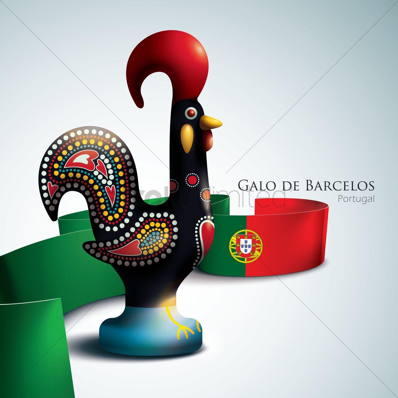 Galo De Barcelos Vector Image 1577542 Stockunlimited