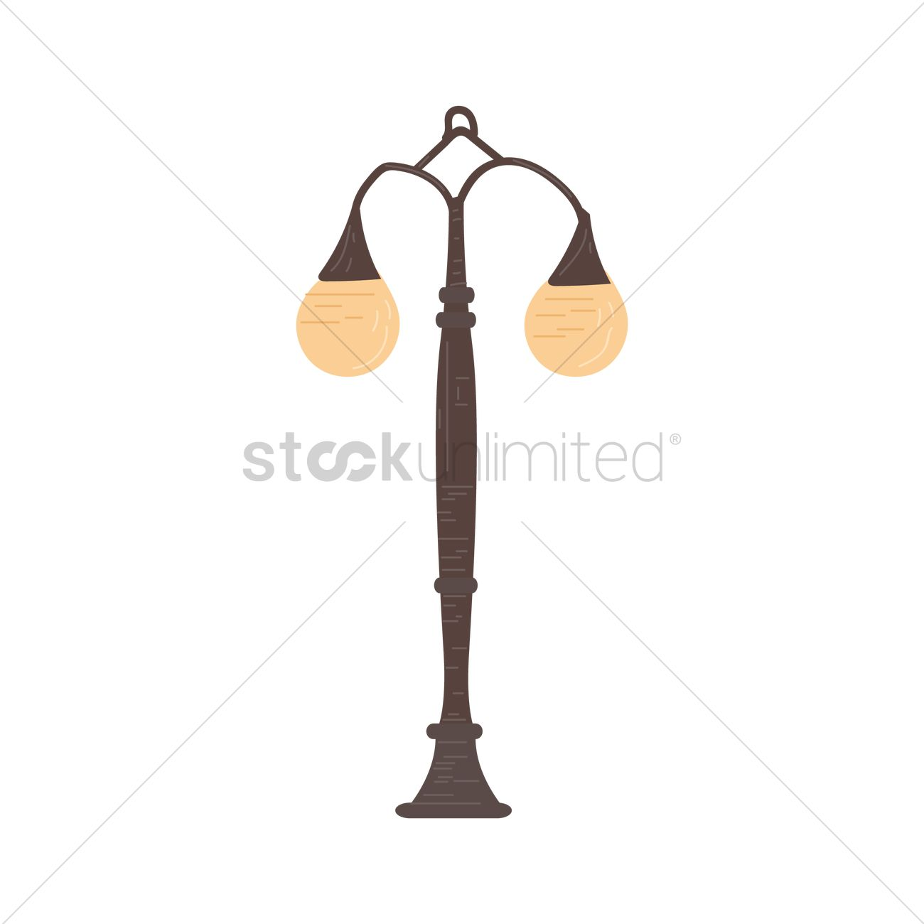 Charming Garden Lamp Vector Graphic