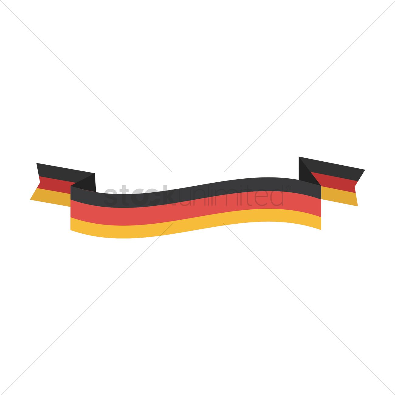 german flag banner vector image 1619782 stockunlimited