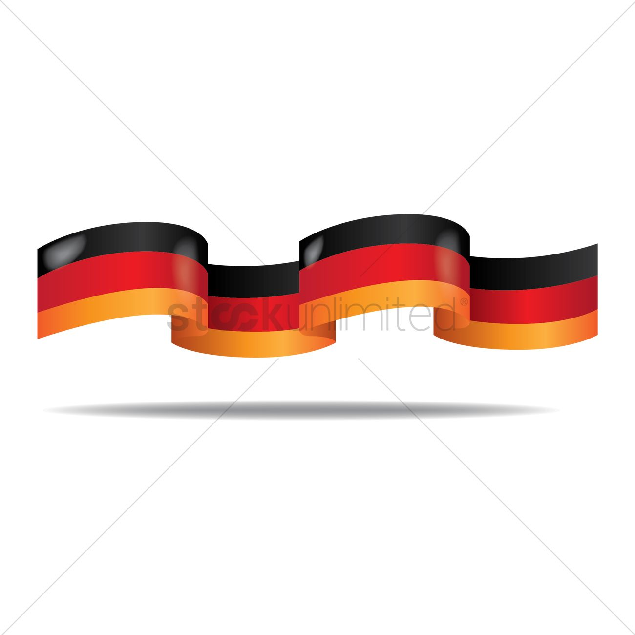 german flag ribbon banner vector image 1954294 stockunlimited