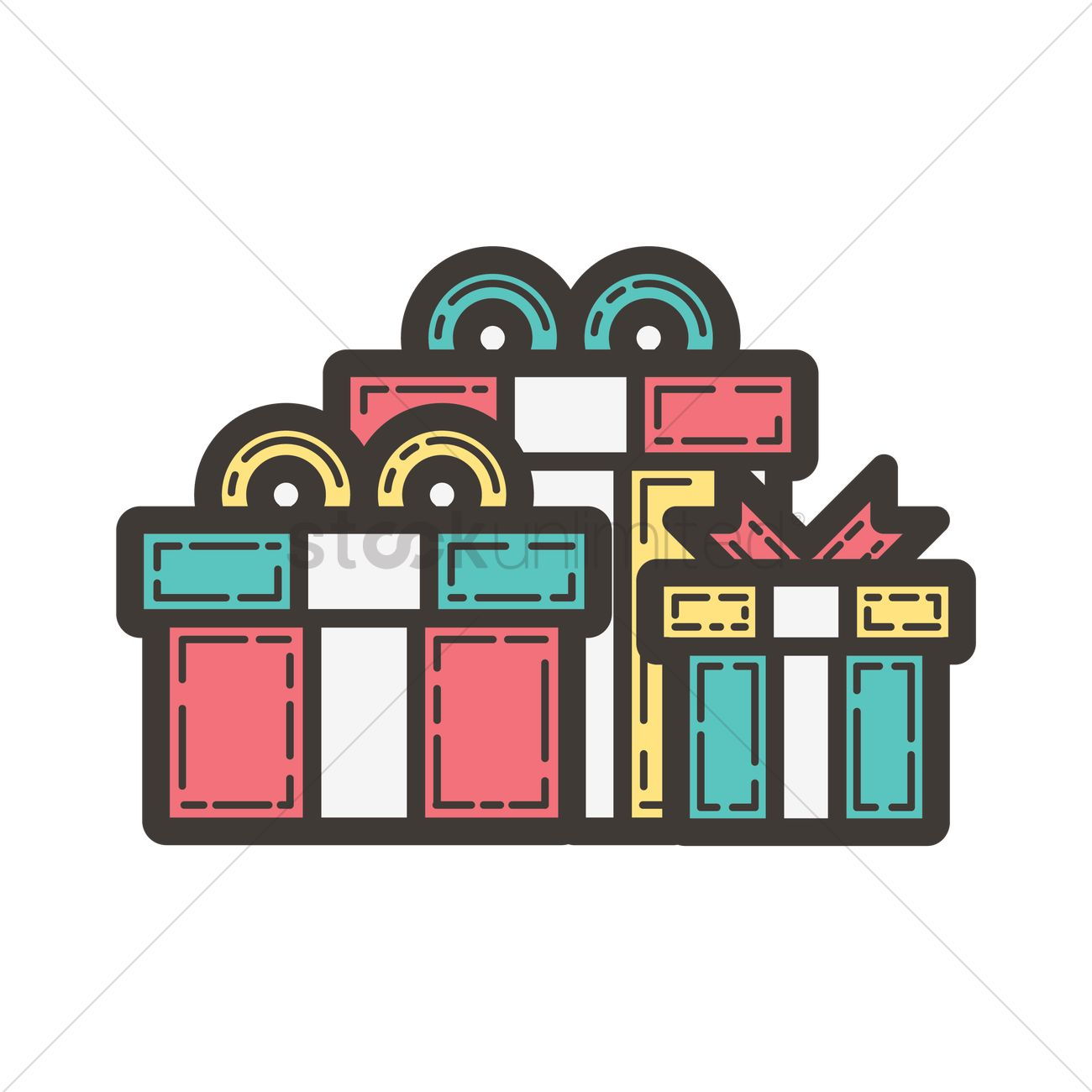 Gifts Icon Vector Image 1962446 Stockunlimited