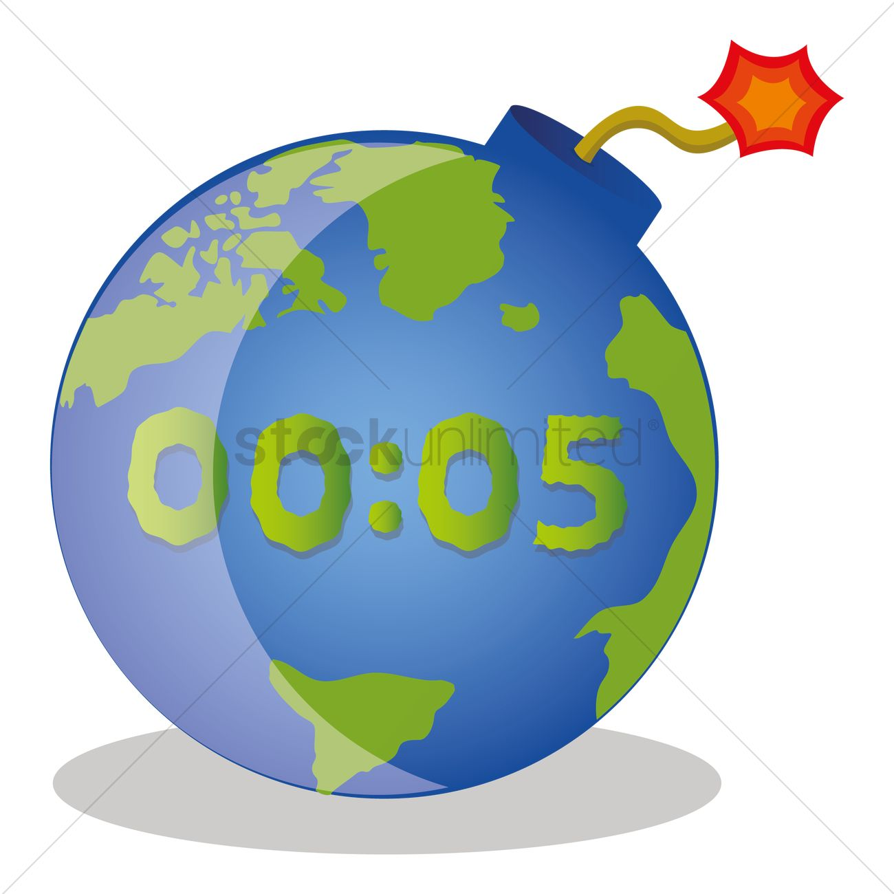 globe as a time bomb vector image 1400506 stockunlimited