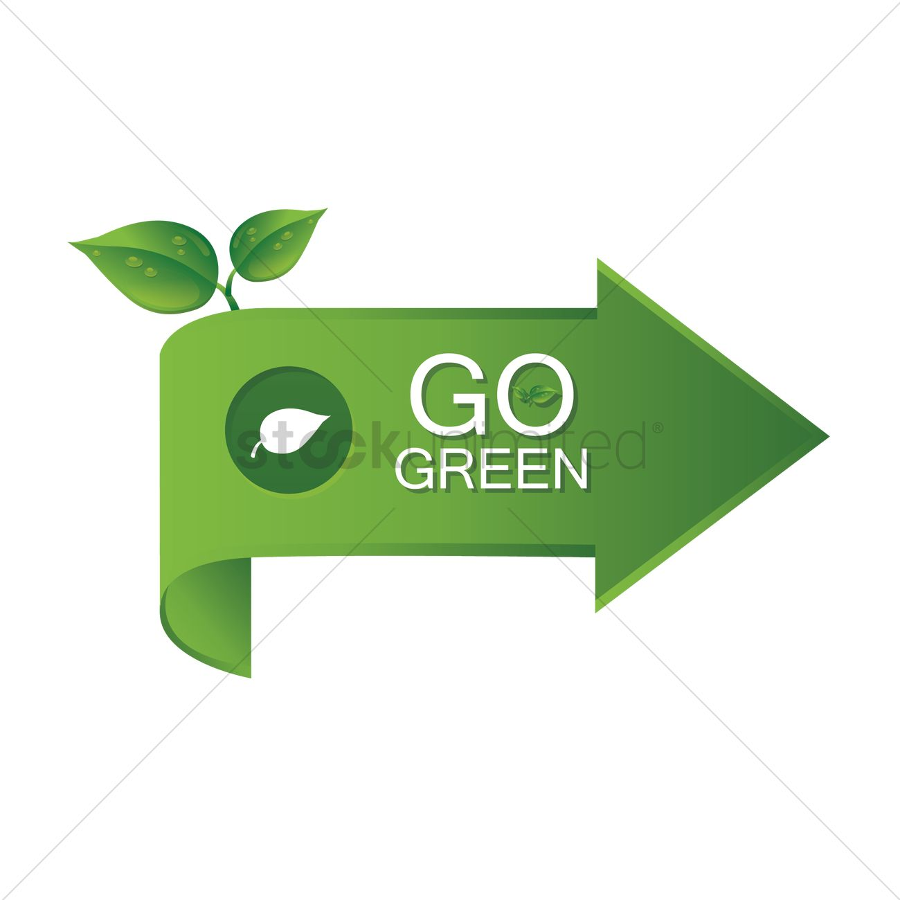 Go green arrow Vector Image - 1418710 | StockUnlimited
