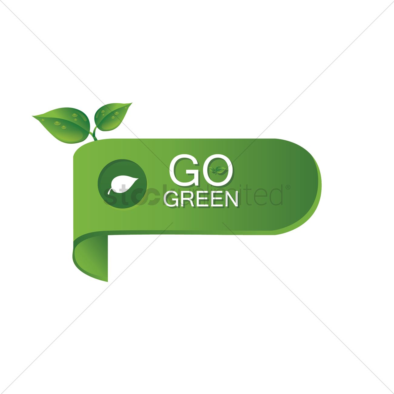 Go Green Banner Vector Image 1418722 Stockunlimited