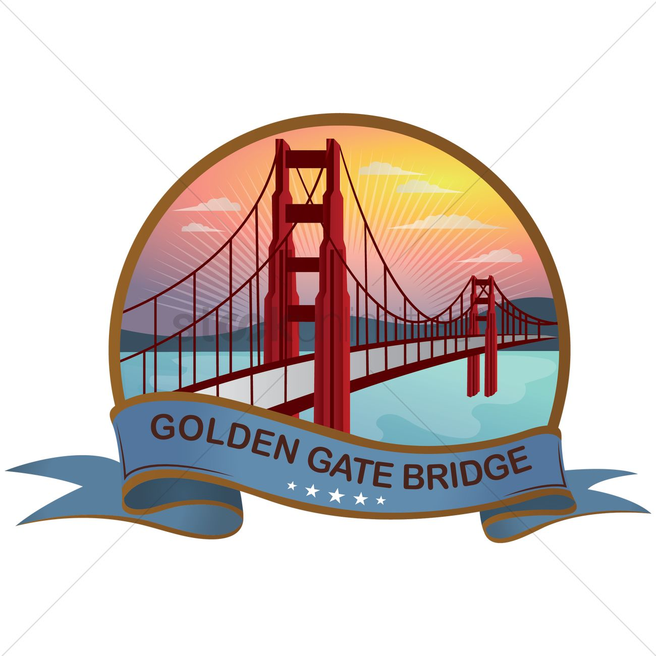 Golden Gate Bridge Vector Image 1569058 Stockunlimited