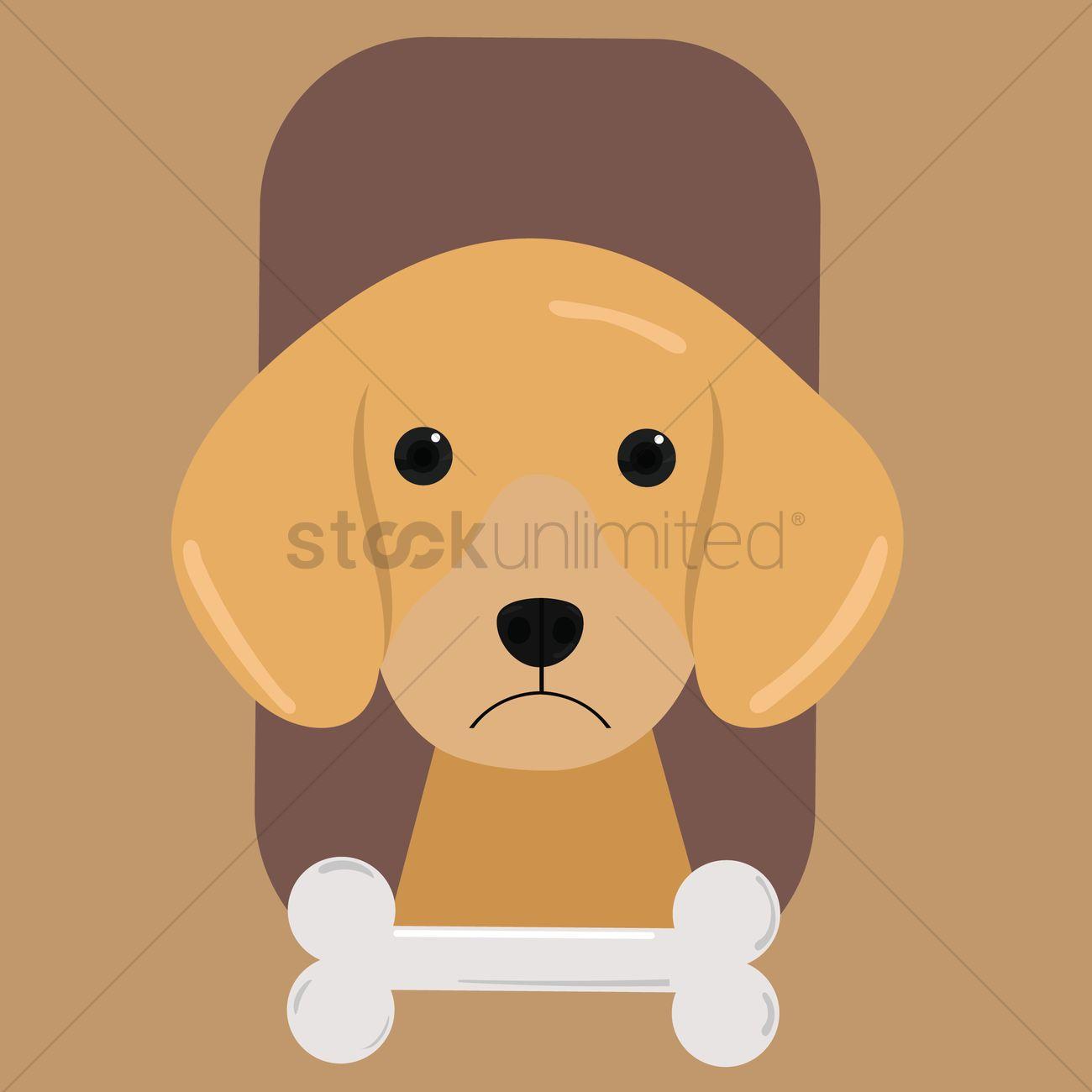 Free Golden Retriever Puppy With Bone Vector Image 1286822