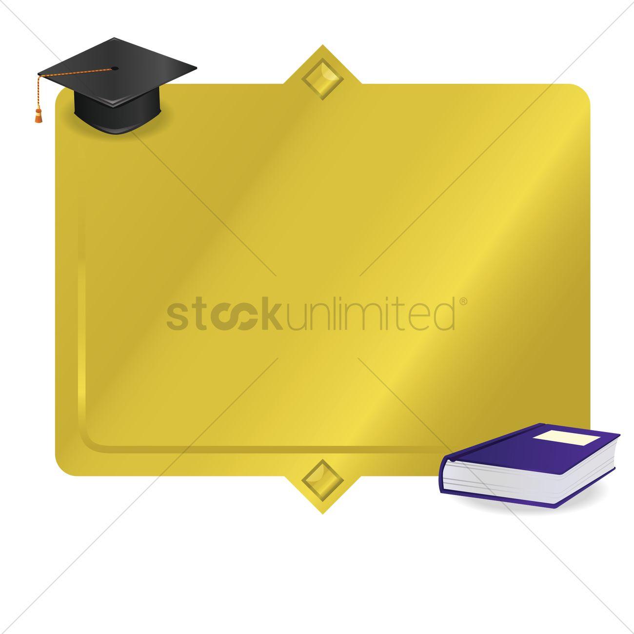 Graduation frame Vector Image - 1531414 | StockUnlimited