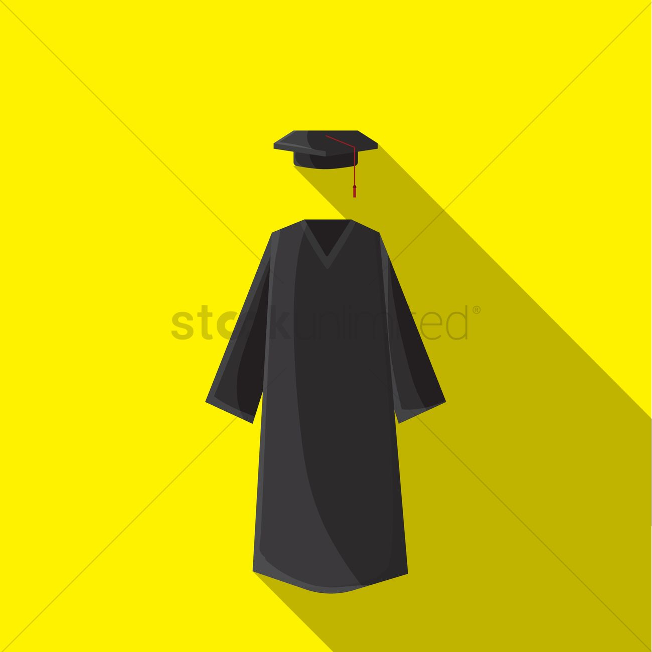 Graduation gown with hat Vector Image - 1255626 | StockUnlimited