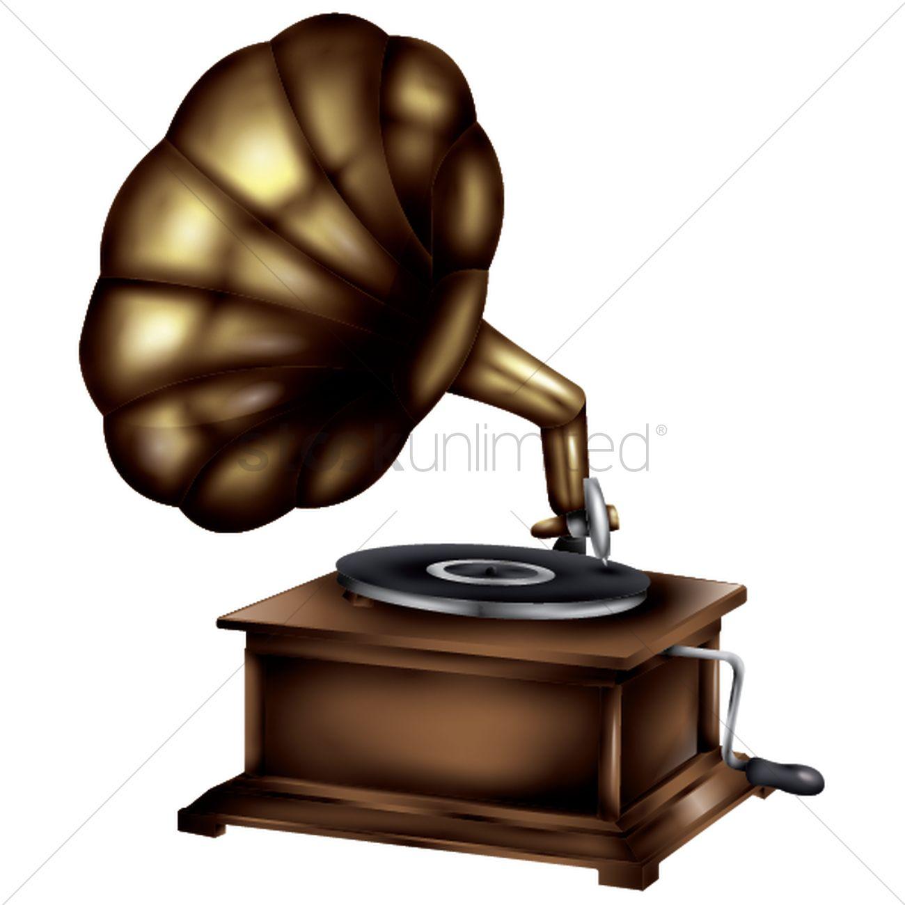 gramophone vector image 1991086 stockunlimited gramophone vector image 1991086