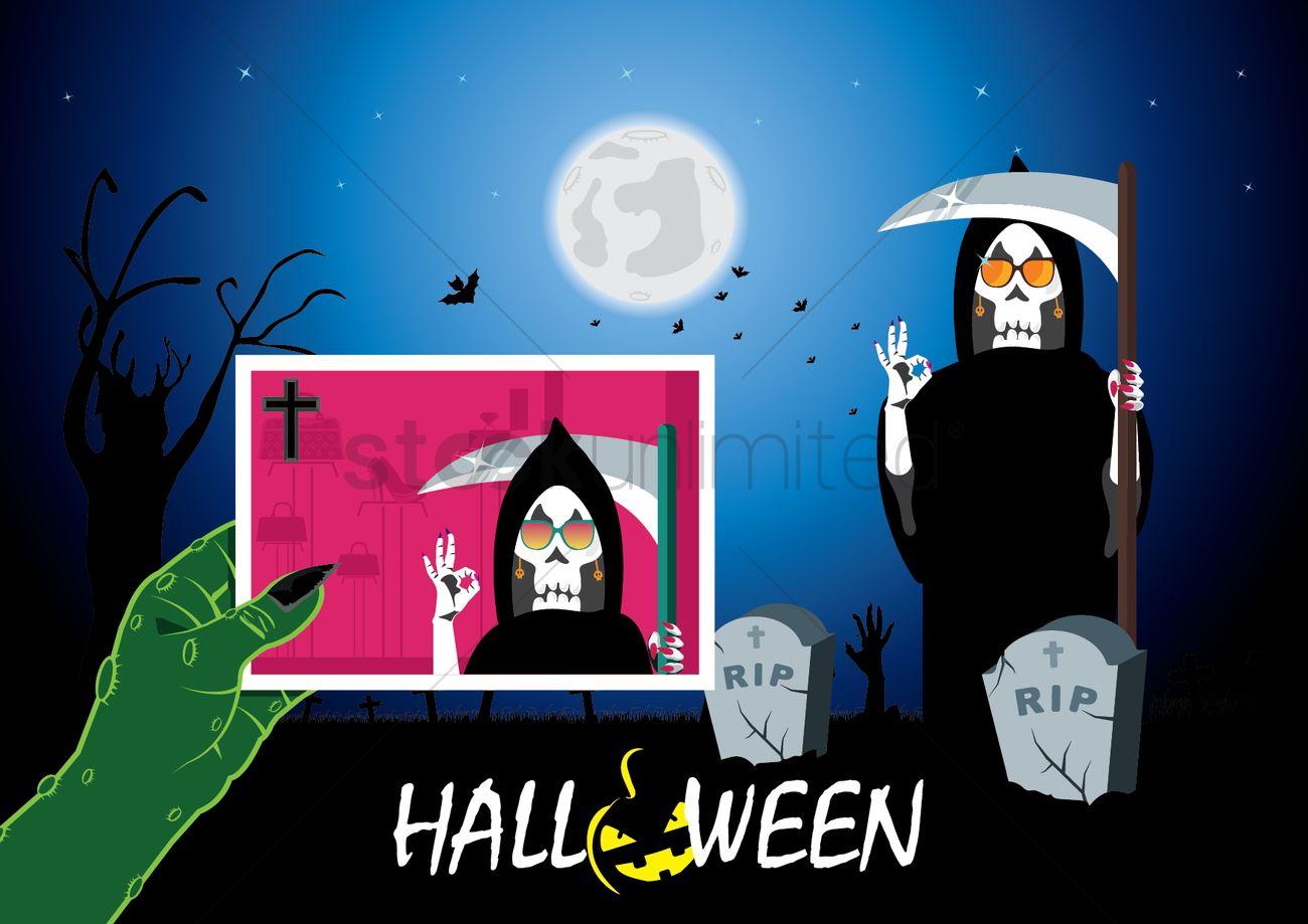 Halloween Card Vector Image 1488234 Stockunlimited