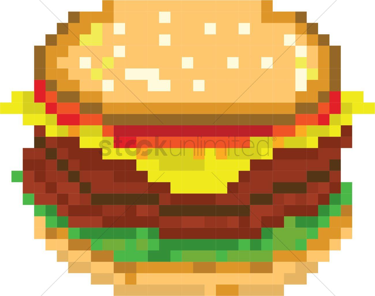 Hamburger Pixel Art Vector Image 2021142 Stockunlimited