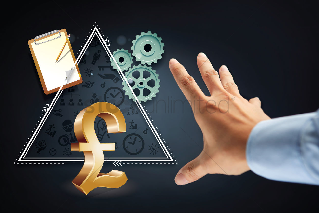 Hand Reaching Out For Pound Uk Currency Symbol Stock Photo 1949046