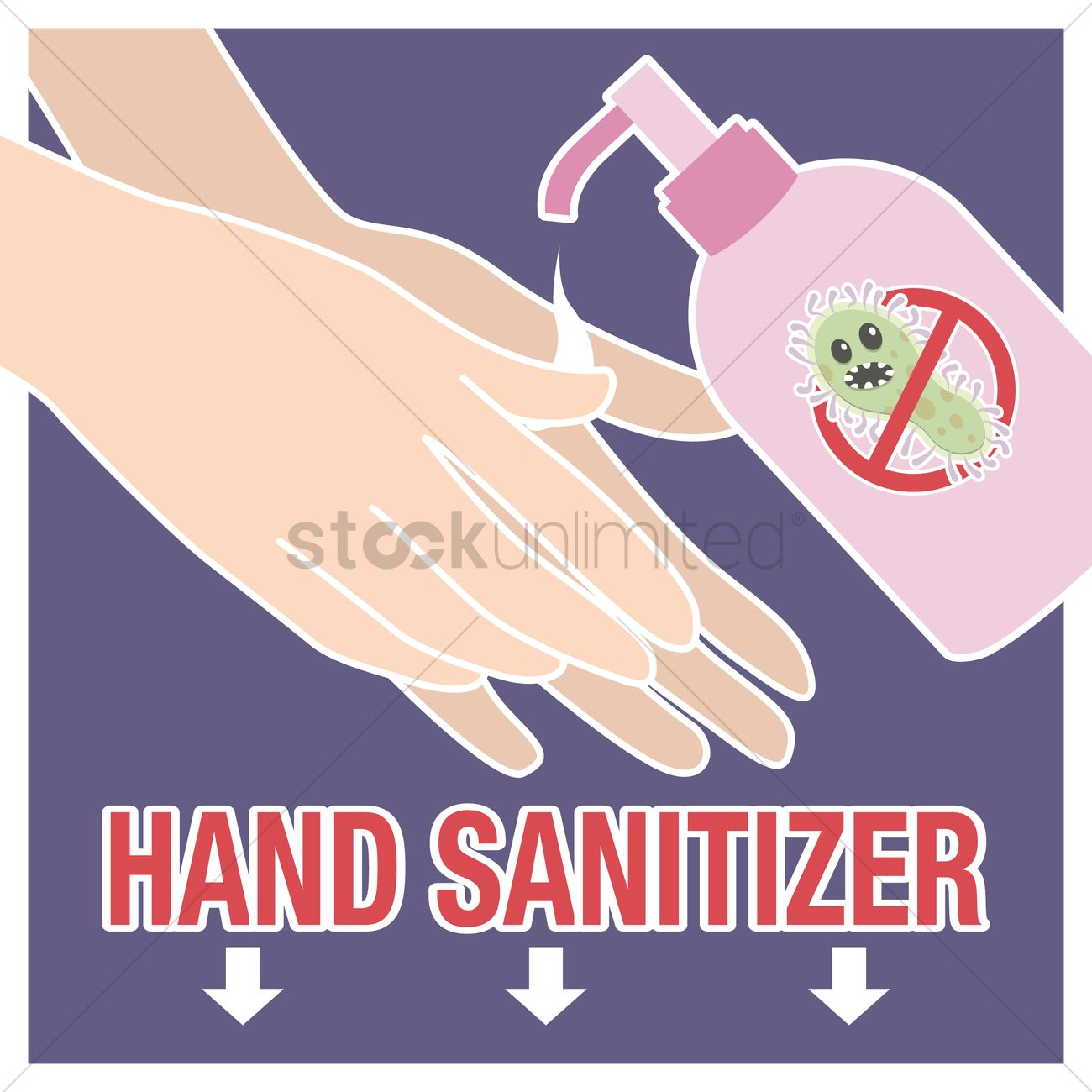 hand sanitizer poster vector image 1244110 stockunlimited